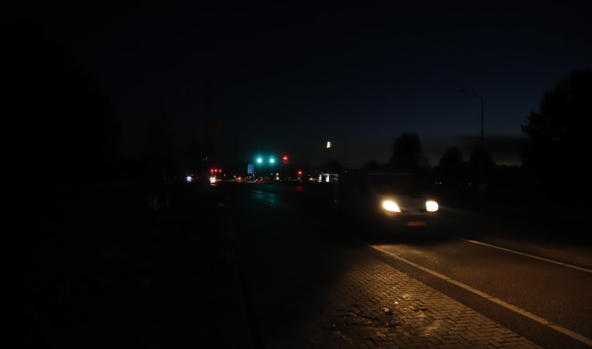 Het was donderdagavond opvallend donker in Cuijk.