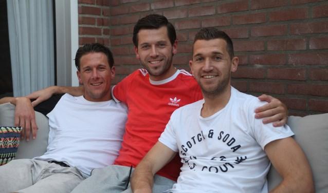 Van links naar rechts: Tom, Sander en Benny.