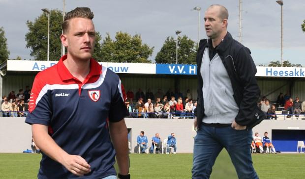 Tom van Dalen (L) en Stephan Hesemans ontmoeten elkaar zondag op Balledonk