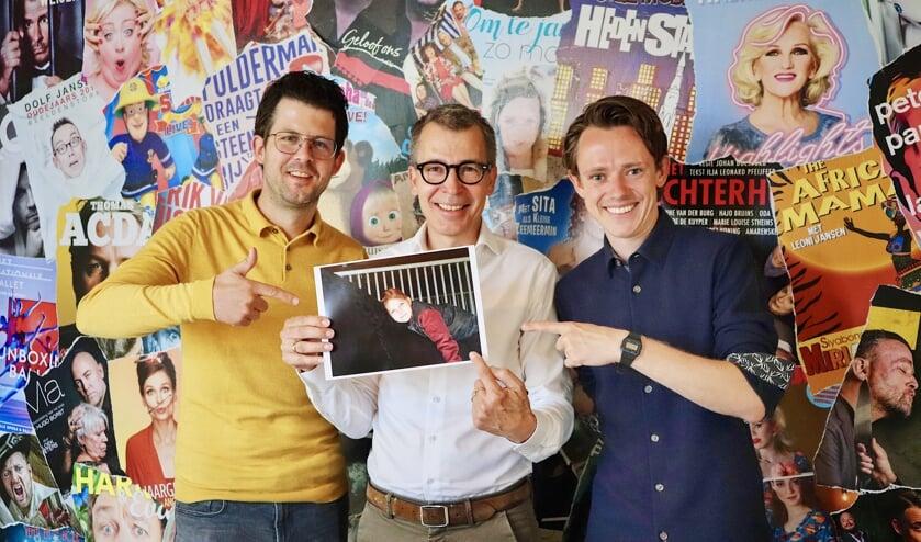 Jeroen van de Sande (MooiRooi), Harry Vermeulen (Theater De Blauwe Kei) en Ties van Dooren (Stadskrant Veghel).  Ineke Blummel (MooiSchijndel) en Angela Schijf ontbreken.