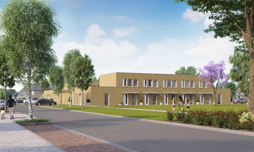 De woningen aan de Jan van Galenstraat.  © Kliknieuws Veghel