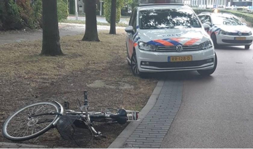 Ongeval op de Titus Brandsmalaan. (Foto: Instagram Wijkagent Gertjan)