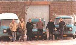 Marien van Doorn, Charles van den Brink, Peter Bosman, Jan Boer en Gijsbert Maijenburg
