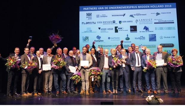 Genomineerden Ondernemersprijs Midden Holland 2018 (archieffoto)