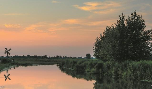 Fraaie zonsondergang in De Meije. Beeld: Theo Hamoen