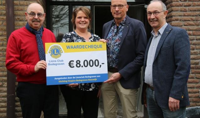 V.l.n.r. Gert Nap, Nelleke Mouthaan, Rob Overes en Jan Bouwens