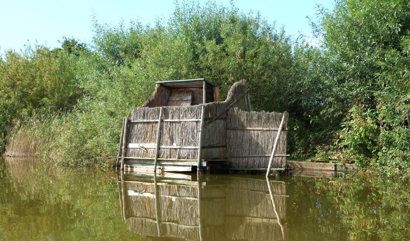 jachthut in de Reeuwijkse Plassen (archieffoto)
