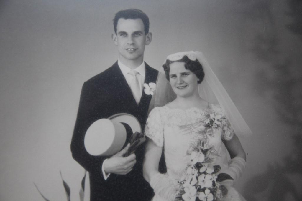 Arie en Corry zijn getrouwd op 23 mei 1961.   © hartvanlansingerland