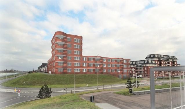 Een impressie van het appartementencomplex.