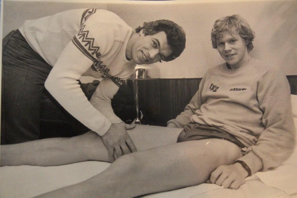 In 1984 was Peet de verzorger van de Zweedse schaatsploeg.   © hartvanlansingerland