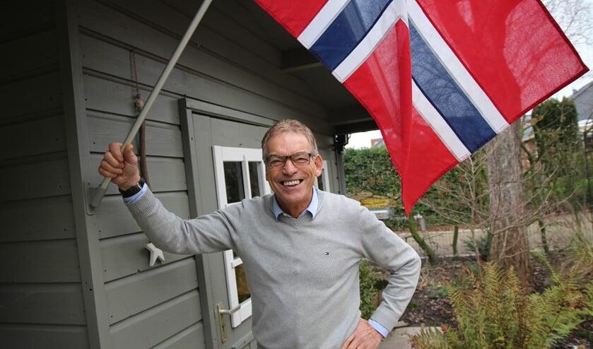 Voor Peet van der Meijden is Noorwegen een tweede vaderland. Hij wappert regelmatig met de Noorse vlag.