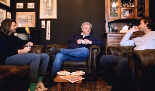 Brendo Festen, Robèr Willemsen en Robert Boevé van Opperdepop Festival. (Foto: Marieke Dekker)