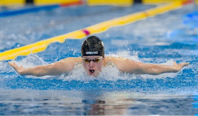 Thomas Jansen zwemt EJK limiet op 400 meter wisselslag. (Foto Kees-Jan van Overbeeke)