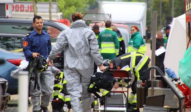 Uit voorzorg werd een zogenoemde ontsmettingsstraat op gezet. (Foto: Spa Media)