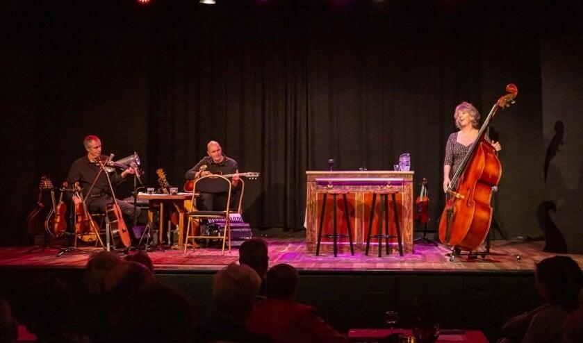 Marjolein Meijers tijdens het theaterdiner in december. (Foto: Theater 't Web/Jaap Koole)
