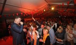 Vorig jaar zorgde Wolter Kroes onder andere voor een feestje.