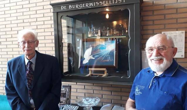 Mattheus Snoep bij de Burgerwissellijst met Adrie Kroos