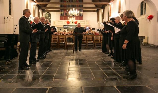 Het koor heeft werken uit de Duitse romantiek ingestudeerd.