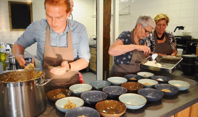 In de keuken van de Paradijshoeve werd met regionale ingrediënten gekookt