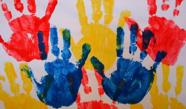 Kinderen kunnen onder meer knutselen tijdens de Kindersoos.