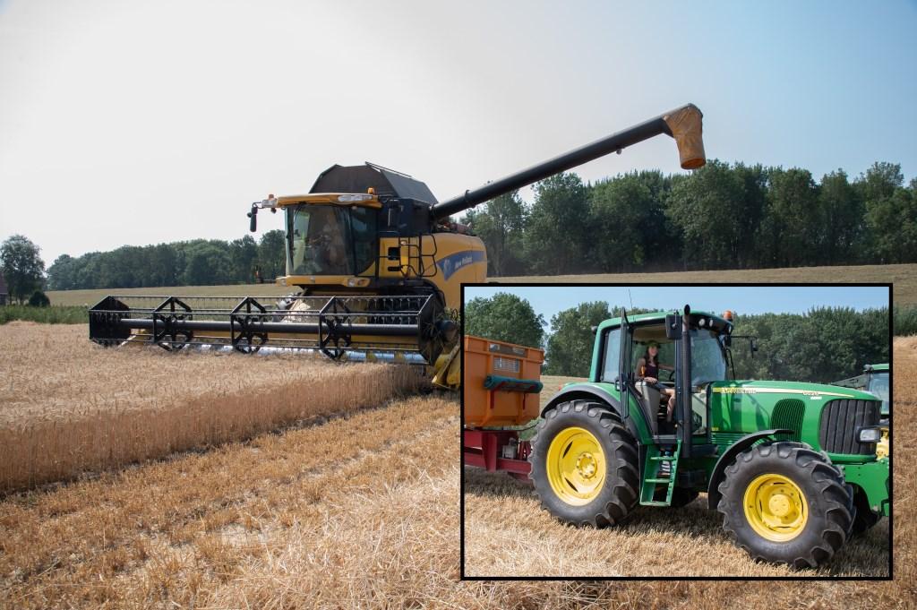 Voor Nienke is tractor rijden het mooiste wat er is.  © Baruitgeverij