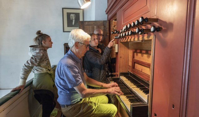 Het orgel trekt altijd bezoekers.