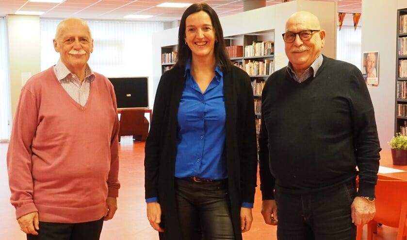 V.l.n.r. Ger Noordzij, Yolanda Hekkert, Aad Blaas.