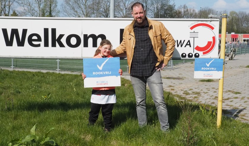 Joos van Hensbergen met zijn achtjarige dochter Jasmijn.
