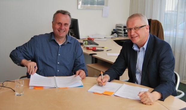 Peter Manders (links), directeur-bestuurder bij Patrimonium, en Roland van der Klauw, directeur stichting Wocozon.