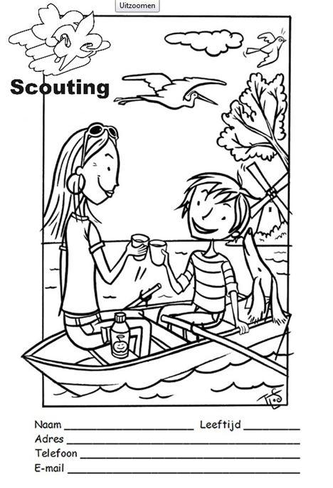 bevers scouting kleurplaat