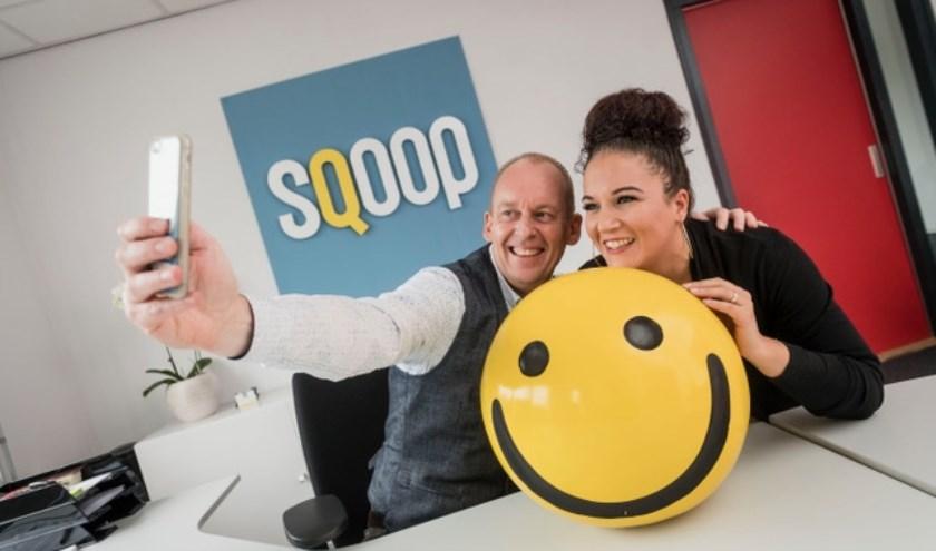 ENSCHEDE - Patrick Hermans en Singalita Dalhoeven van online marketingbureau Sqoop in EnschedeEDITIE: ONDERNEMERFOTO: Emiel Muijderman EVM20161020