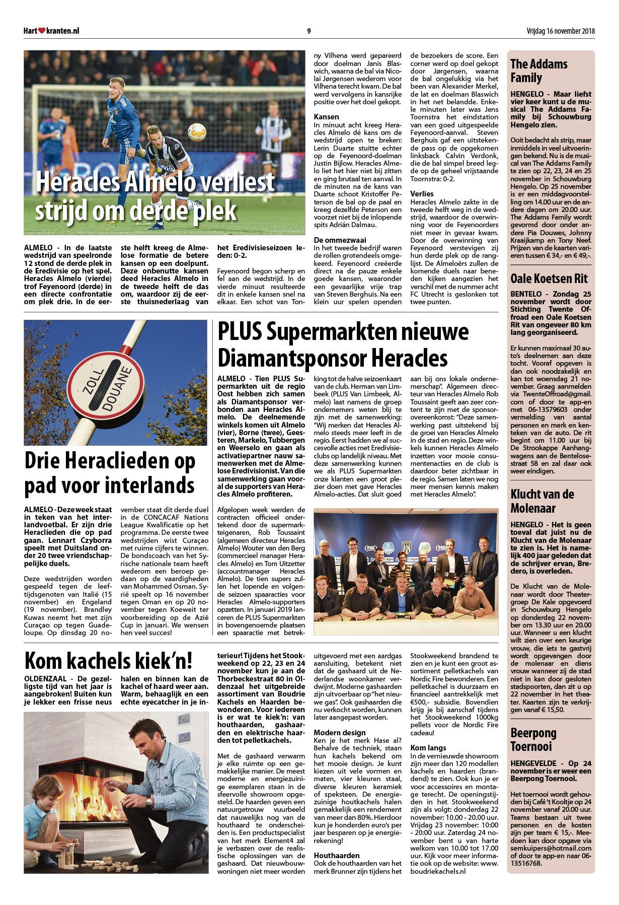Hart van Hengelo - Hof van Twente 16 november 2018