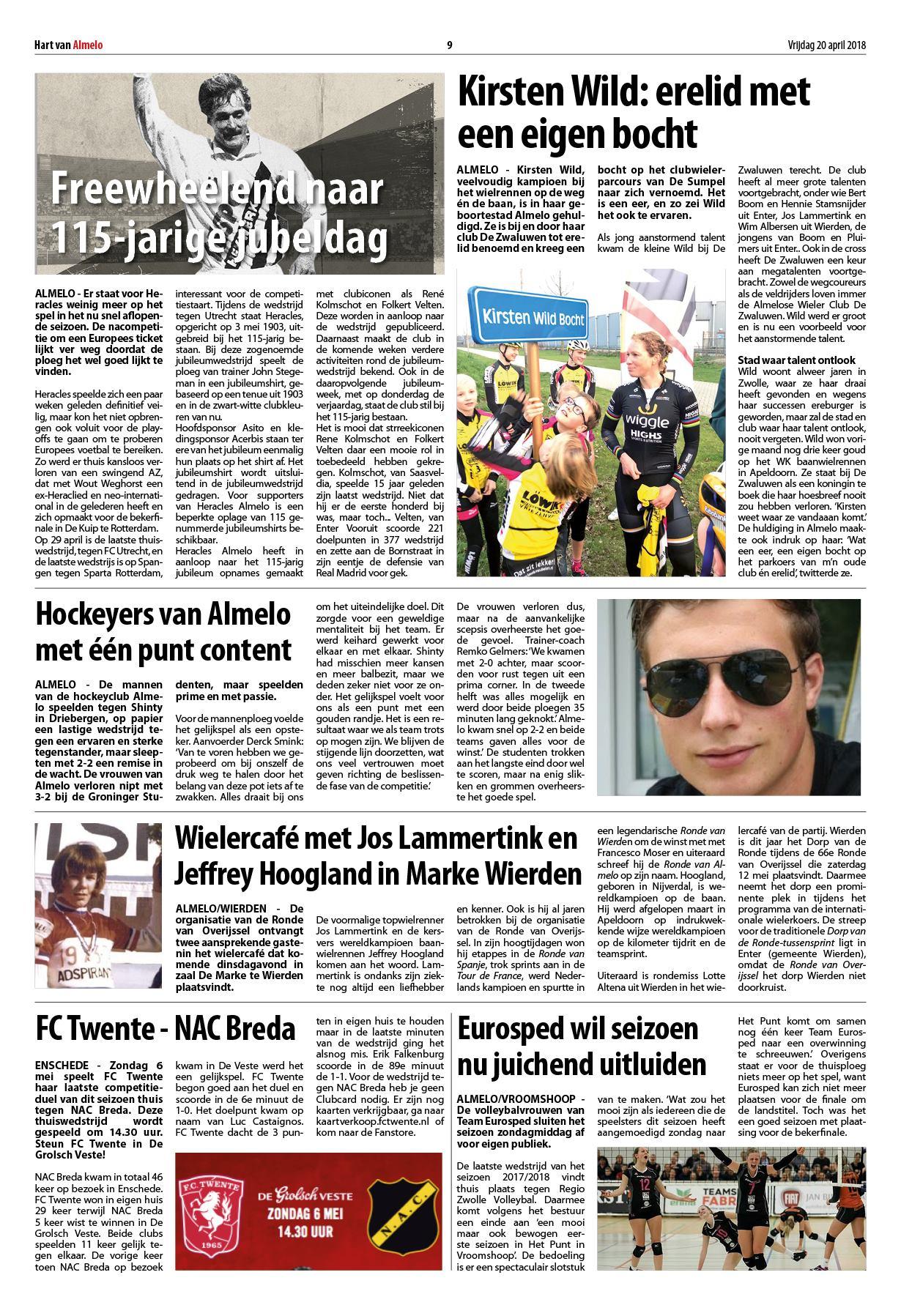 Gerard Joling Zitzak.Hart Van Almelo Wierden 20 April 2018