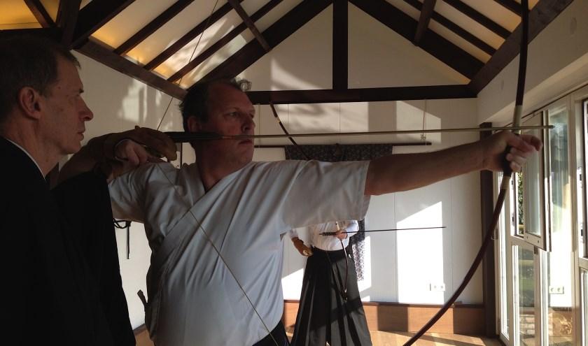 Japans boogschieten is zowel een kunst (lichamelijke beheersing) als een sport.