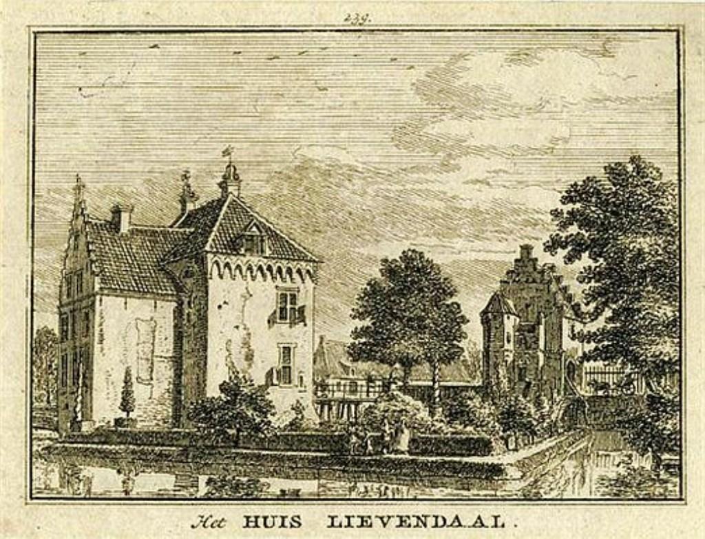 Huis Levendaal in Achterberg zoals het er in de 17e eeuw uitzag.   © Persgroep