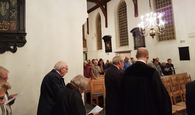Veel mensen kwamen naar de speciale kerkdienst 'Dorpskerk Maarssen zingt'. Foto: Dorpskerk Maarssen
