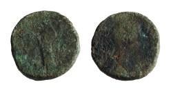 Beide zijden van de Romeinse munt. (Foto: Alexander van de Bunt)