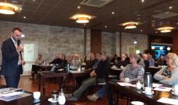 Tientallen ondernemers luisterden geboeid naar het verhaal van Visit Veluwe door Bastiaan Overeem