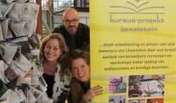 Ingrid de Bruijn, Hanno Mook en Ghita van der Kraan zorgen met hun collega's voor dynamiek en een wisselnd aanbod van cursussen door de KPIJ. FOTO: Lysette Verwegen