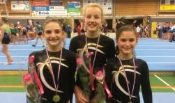 Vlnr: Emma-Sophie Merjan, Puck Waanders en Nathalie Elias.