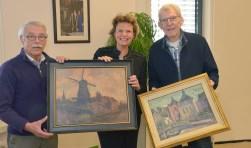 Een verzoek om schilderijen van Montfoort om haar werkkamer op te vrolijken, was niet tegen dovemansoren gezegd. (Foto: Paul van den Dungen)