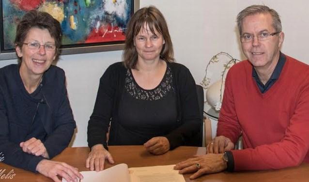Het bestuur van fotocollectief Dinkelshoot. Foto: Marleen Meelis