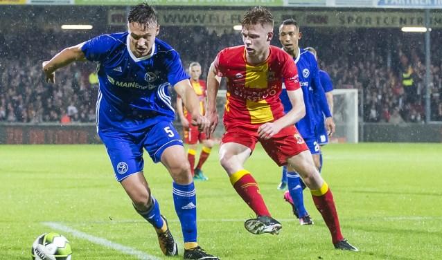 Givan Werkhoven maakte op 29 september 2017 zijn basisdebuut voor Go Ahead Eagles tegen Almere City FC. (Foto: Erik Pasman)