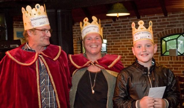Henk Temmink, Sabine Nieuwenhuis  enMax Heijmerwisten de vogels het best te raken.
