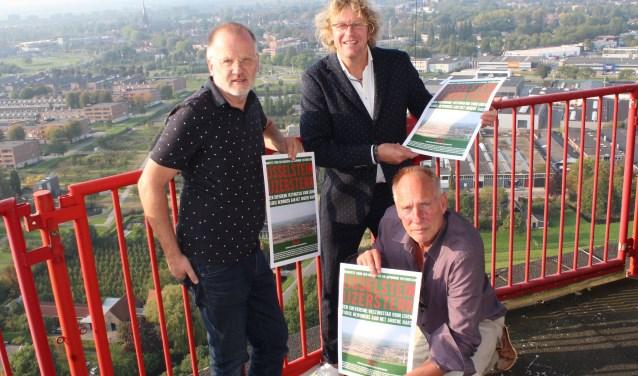"""Voor Bart Rietveld, Bert Murk en Wim van Sijl – samen BB+W – is het duidelijk: """"Stop de samenwerking met Montfoort."""" (Foto: Lysette Verwegen)"""