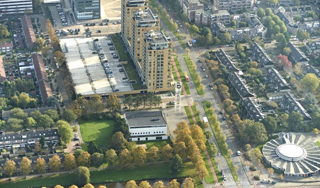 De Rijswijkse woningmarkt is flink aan het borrelen. Luchtfoto Jan Evert Zondag Ardito