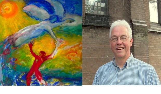 Werk van Marja de Lange (links) en ds. Michiel de Zeeuw.