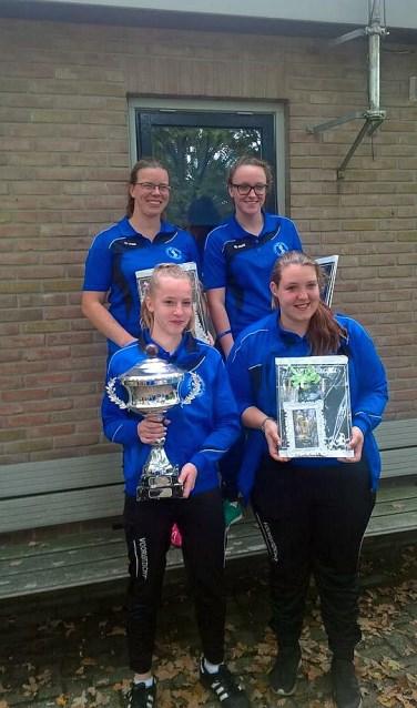 Voor het eerst won het damesteam van KV Vooruitzicht de straatcup.