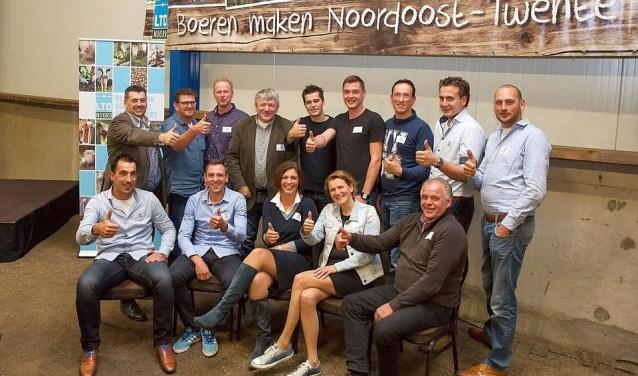 Het bestuur presenteerde zich tijdens de openingsavond. Foto: Leonie Vaarhorst