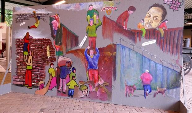 De muurschildering van De Rake Kwasten.